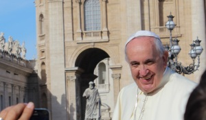 My picture of the Pope -- captured without use of a selfie stick.