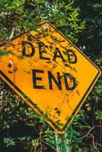 dead end road sign